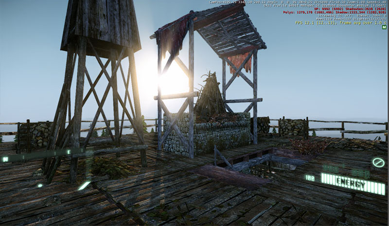 View from the tower top - 3D Merlin's Blade Game